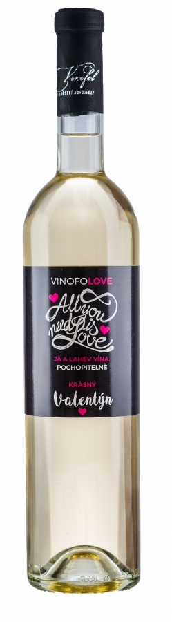 Valentýnské víno Chardonnay - ALL YOU NEED IS LOVE